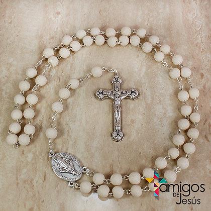 Rosario Madera Virgen Milagrosa