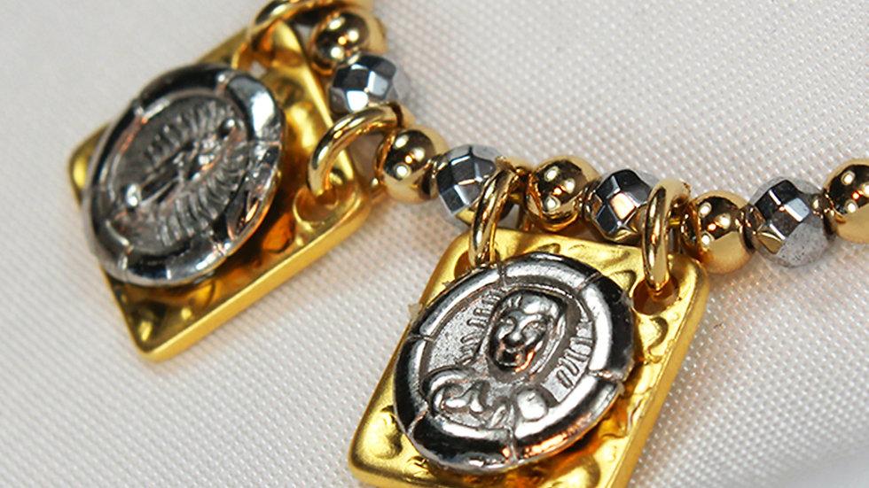 Collar de Vírgen de Gpe. y Sdo. Corazón de Jesús.
