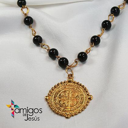 Collar de Perlas Negras San Benito