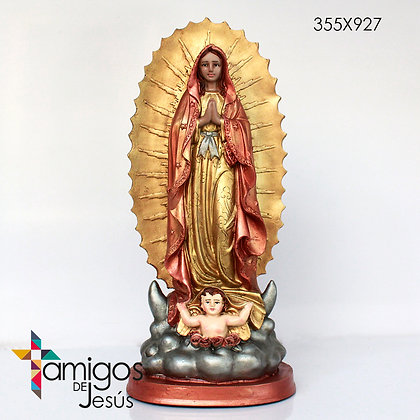 Virgen de Guadalupe cobrizada