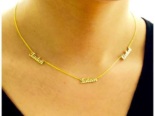 3x in a row necklace