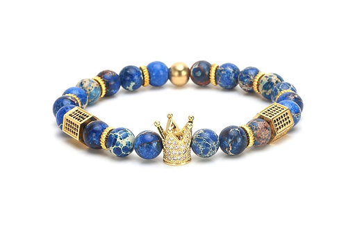 Blue crown bracelet
