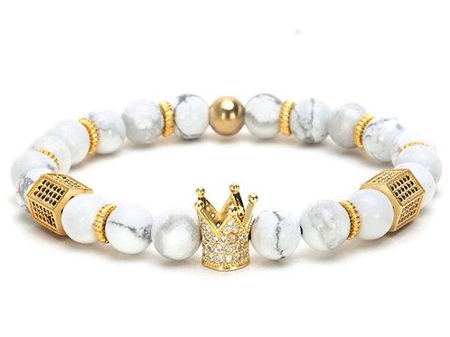 Crown white bracelet
