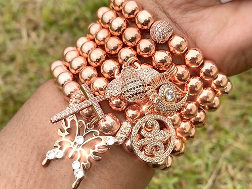Rose gold butterfly