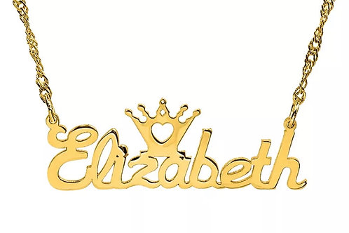 Crown Personalized Chain