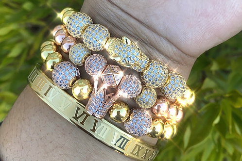 Rose Gold and Gold Bracelet Set