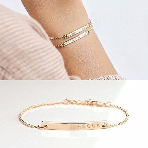 Name Plate Bracelet