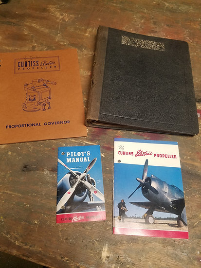 Original Curtiss Electric propeller and governor manuals