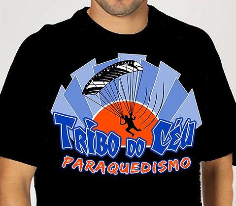 Camiseta Tribo do Céu de Algodão - Manga Curta - Gola Careca