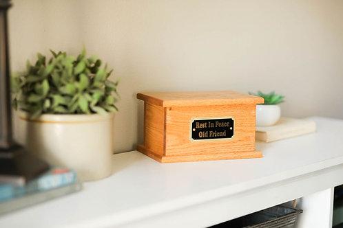 Pet Memorial Urn - Red Oak