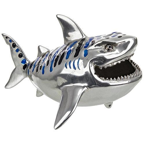Business Card Holder - Tiger Shark, Blue