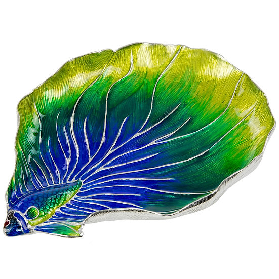 Jewellery Tray - Fighting Fish, Green