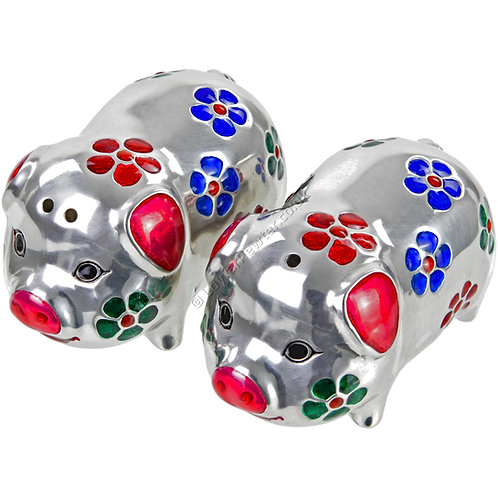Salt & Pepper Shaker Set - Pig