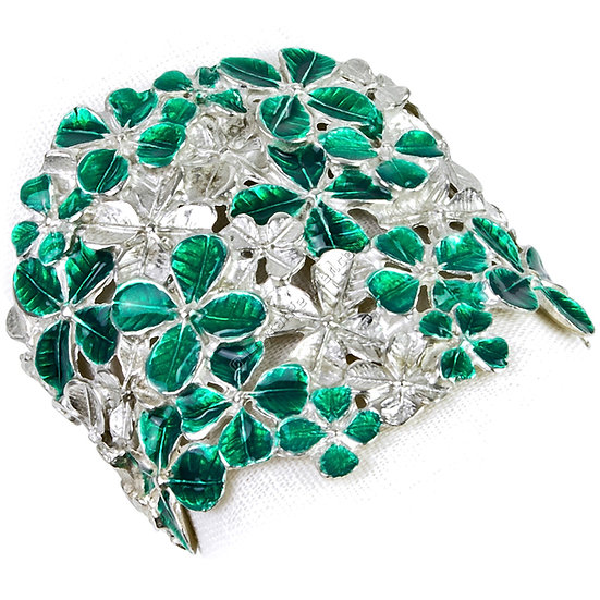 Napkin Ring - Four Leaf Clover, Green
