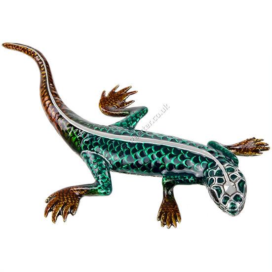 Paperweight - Lizard, Green