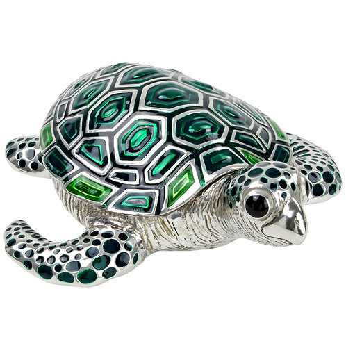 Trinket Box - Turtle, Large, Green