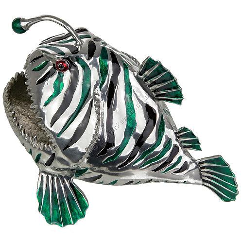 Business Card Holder - Angler Fish, Green