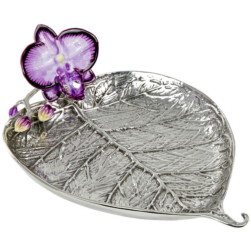 Jewellery Tray - Bo Leaf with Orchid