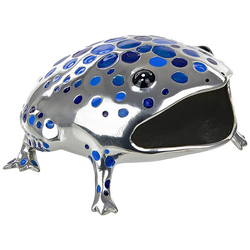 Business Card Holder - Frog, Blue