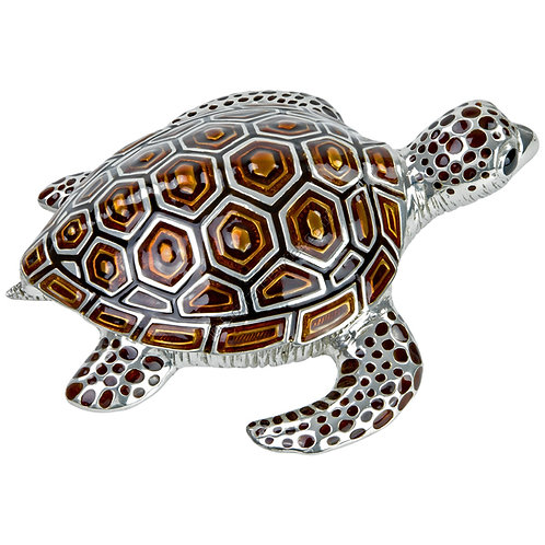 Trinket Box - Turtle, Large, Brown
