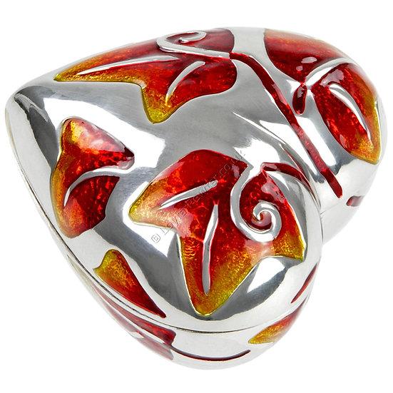 Trinket Box - Heart, Red