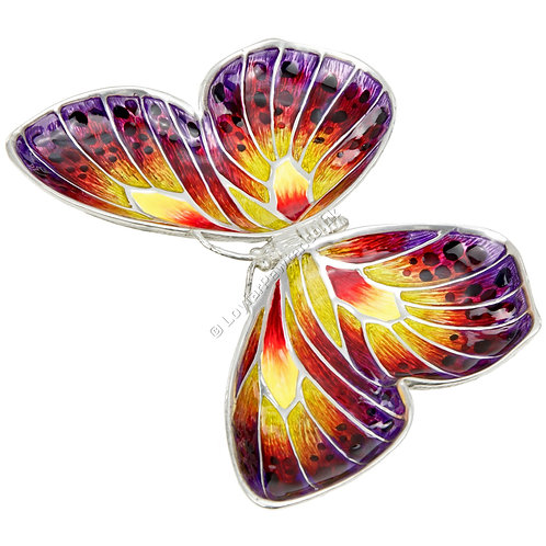 Jewellery Tray - Butterfly, Purple, Red