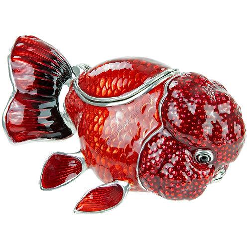 Trinket Box - Goldfish, Large, Red