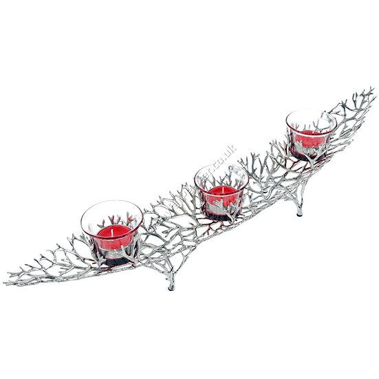 Tea Light Holder - Antler Coral, Three Spots
