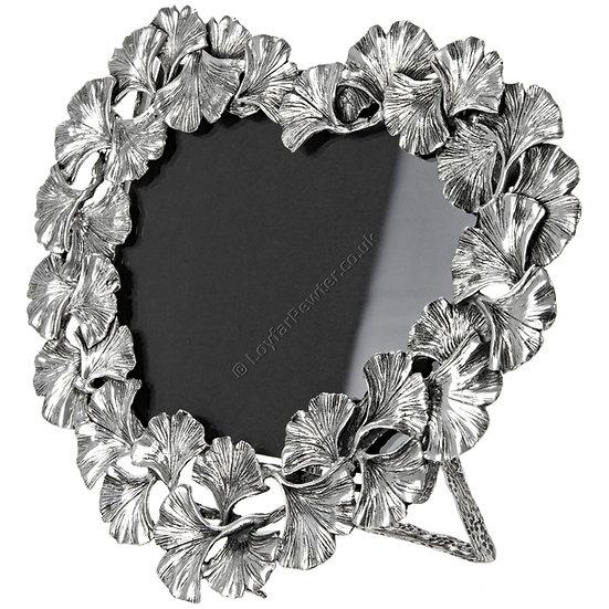 Photo Frame - 3x4 inch, Heart Shape, Ginkgo Leaves