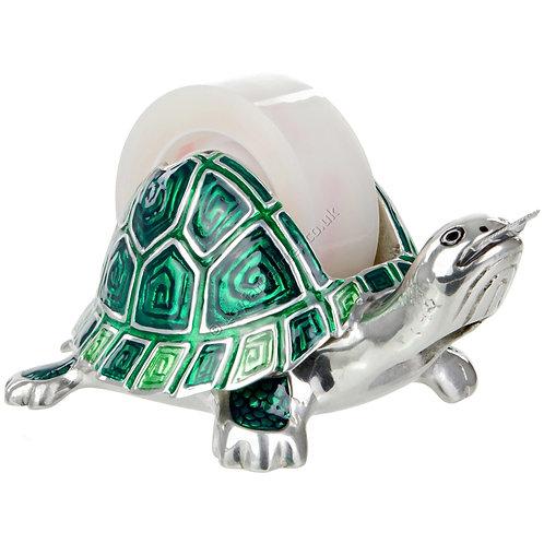 Adhesive Tape Dispenser - Tortoise, Green