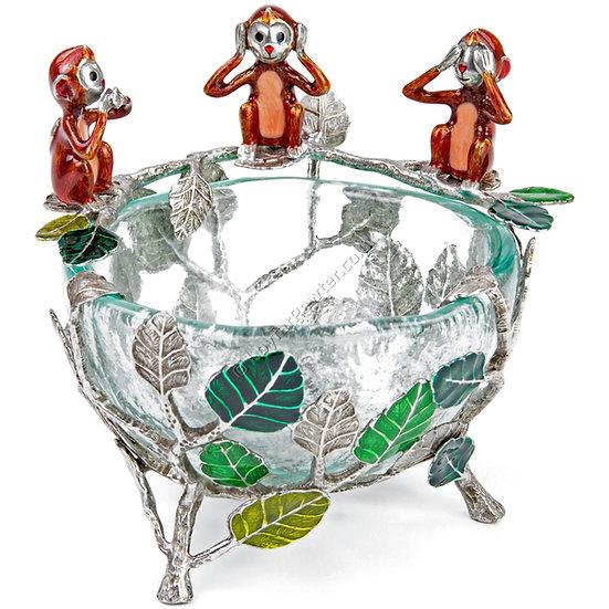 Pot - Glass, Three Wise Monkeys