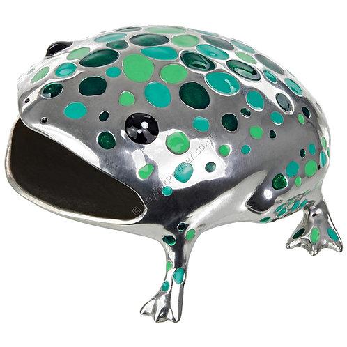 Business Card Holder - Frog, Green