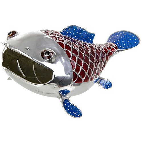 Business Card Holder - Funny Fish, Red