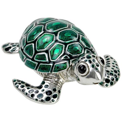 Trinket Box - Turtle, Small, Green