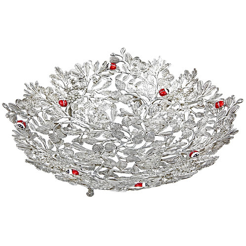 Bowl - Tropical Botanic, Medium, Red Ladybirds