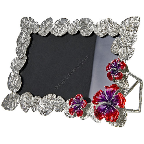 Photo Frame - 3x5 inch, Hibiscus Leaves with Flowers