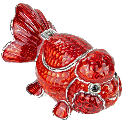 Trinket Box - Goldfish, Small, Red