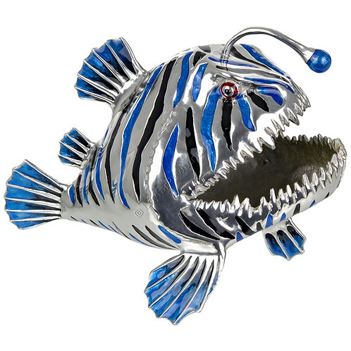 Business Card Holder - Angler Fish, Blue