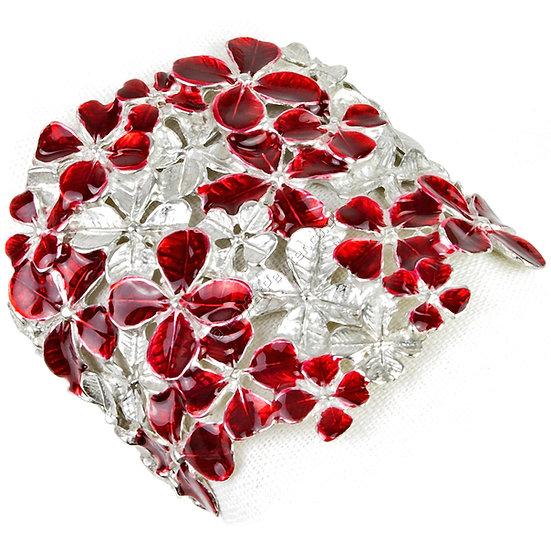 Napkin Ring - Four Leaf Clover, Red