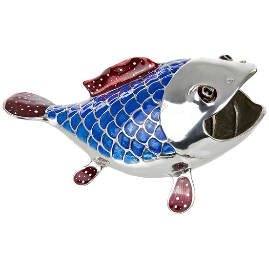 Business Card Holder - Funny Fish, Blue