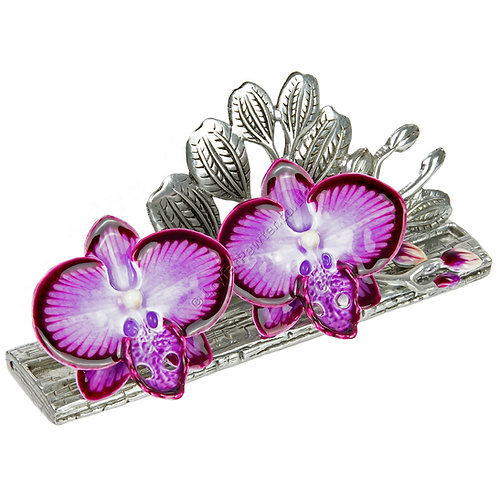 Business Card Holder - Two Orchids