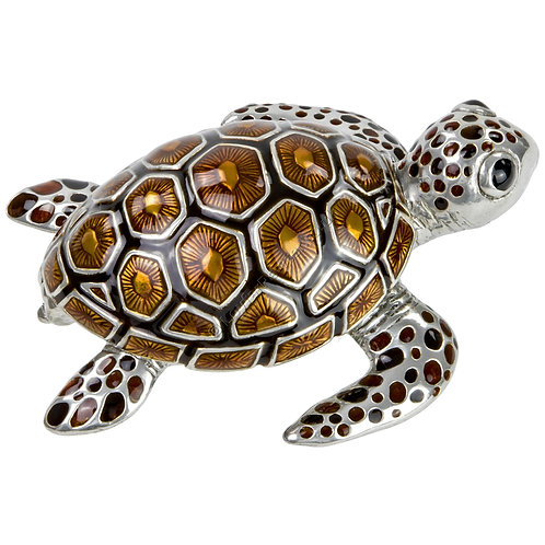 Trinket Box - Turtle, Small, Brown
