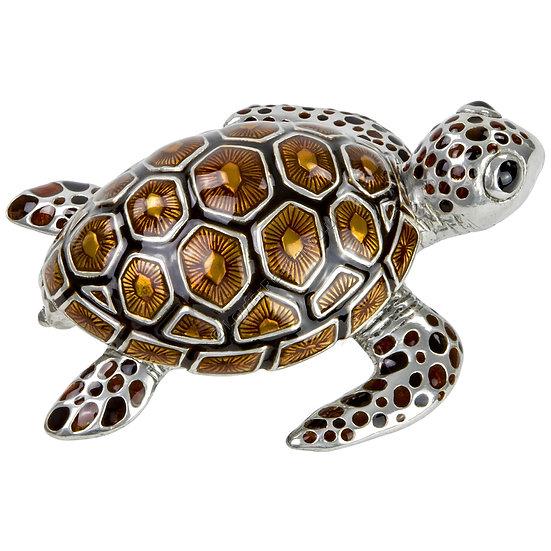 Trinket Box - Turtle, Small, Brown