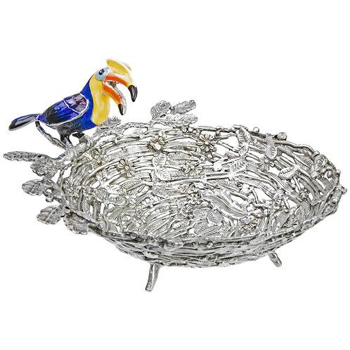 Bowl - Hornbill on Nest, Yellow Neck