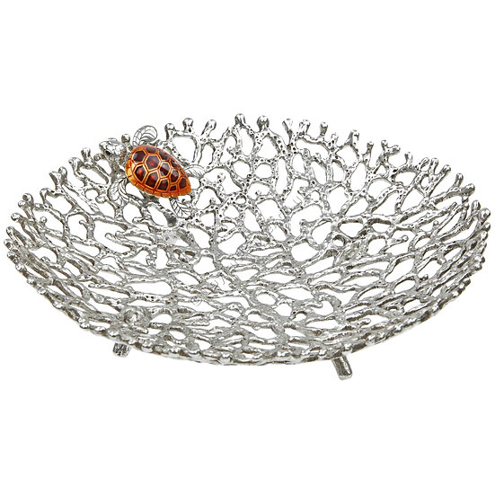 Bowl - Coral with Turtle, Small, Brown