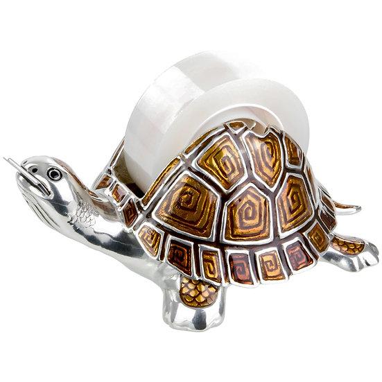 Adhesive Tape Dispenser - Tortoise, Brown