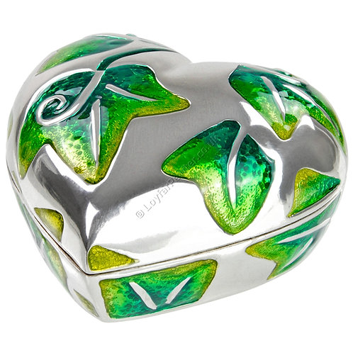 Trinket Box - Heart, Green