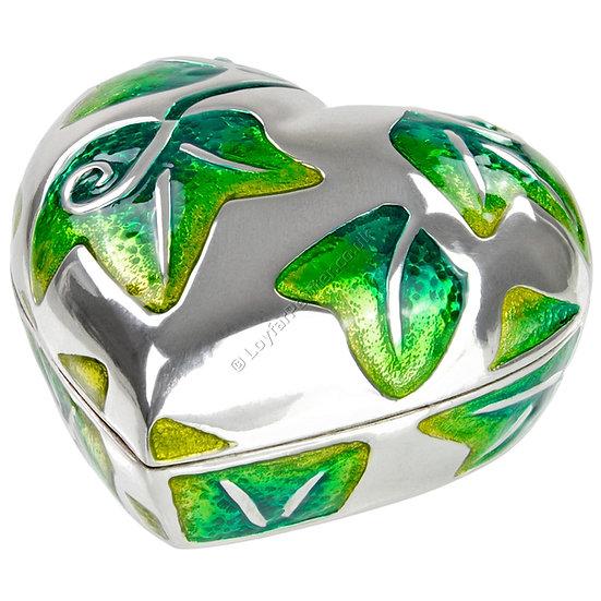 Trinket Box - Heart, Green