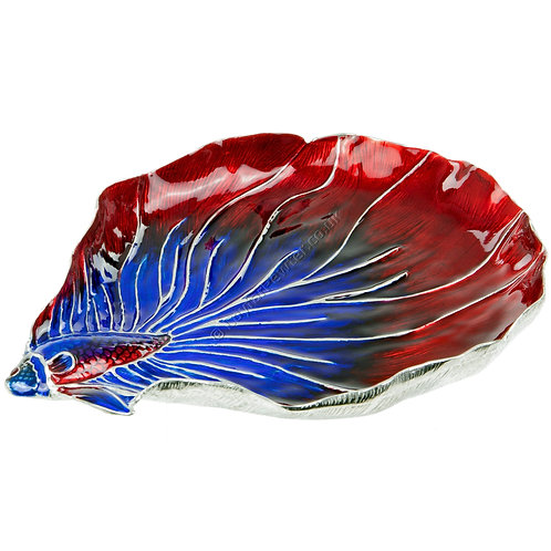 Jewellery Tray - Fighting Fish, Red