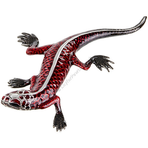 Paperweight - Lizard, Red